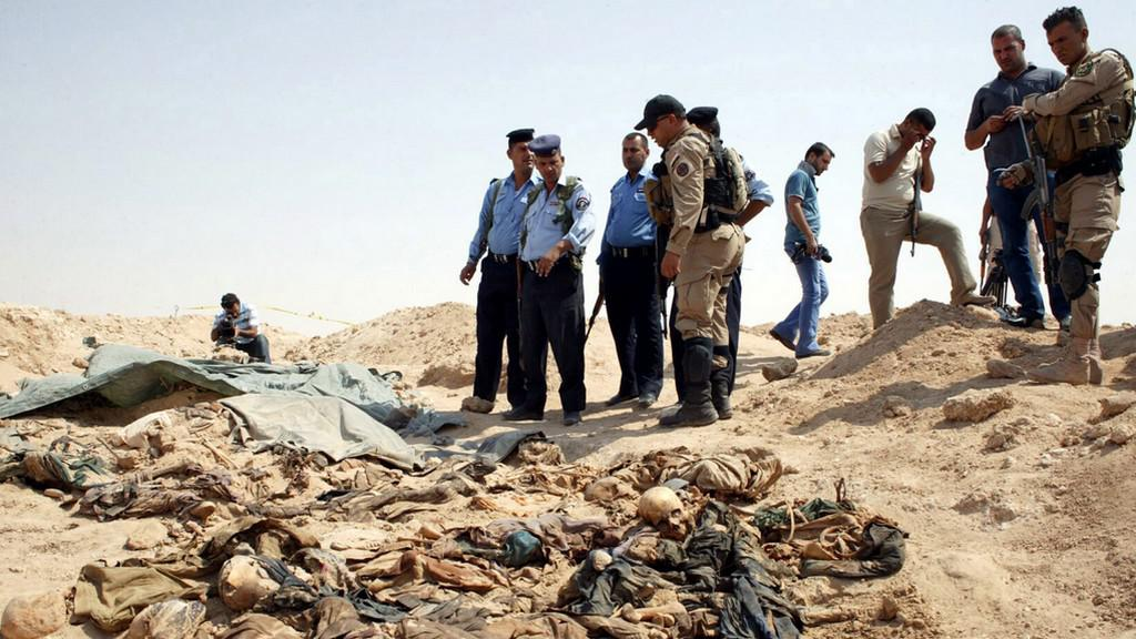 Ostatky těl v Iráku
