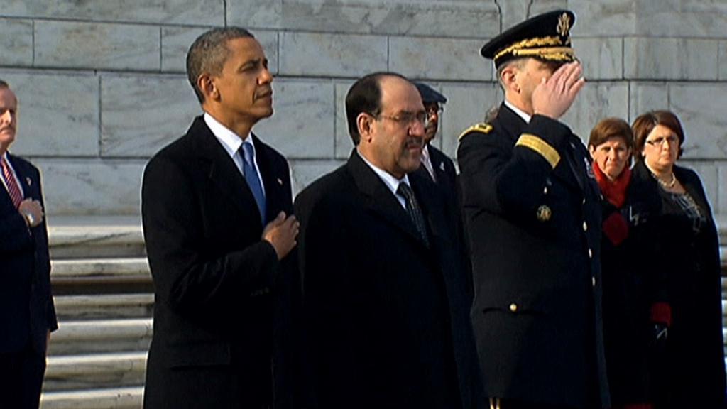 Obama s iráckým premiérem