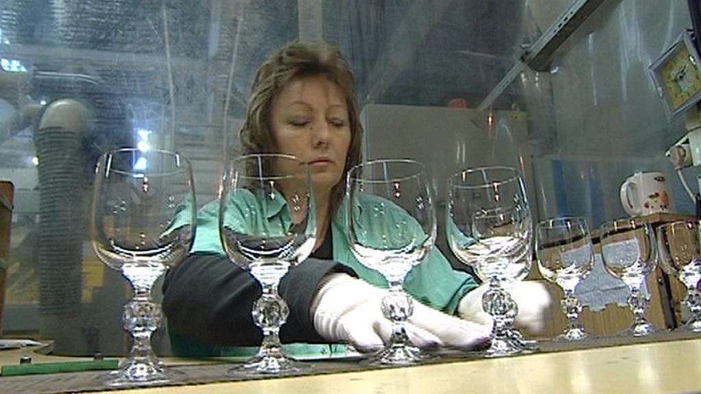 Výroba skla v Crystalexu
