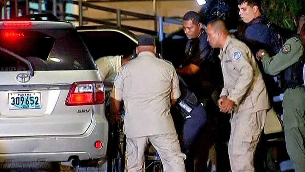 Manuel Noriega po příjezdu do Panamy