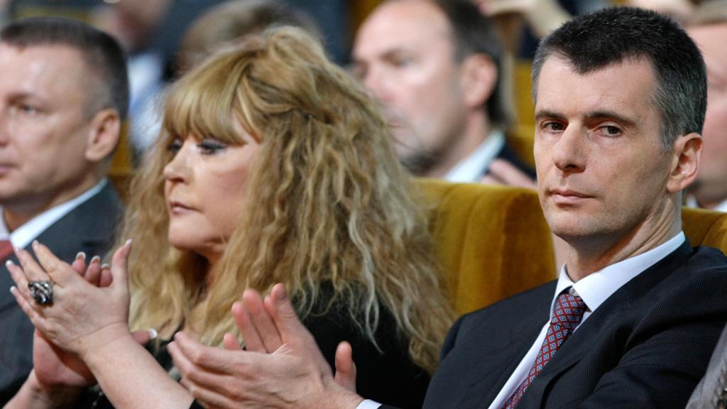 Michail Prochorov a Alla Pugačevová