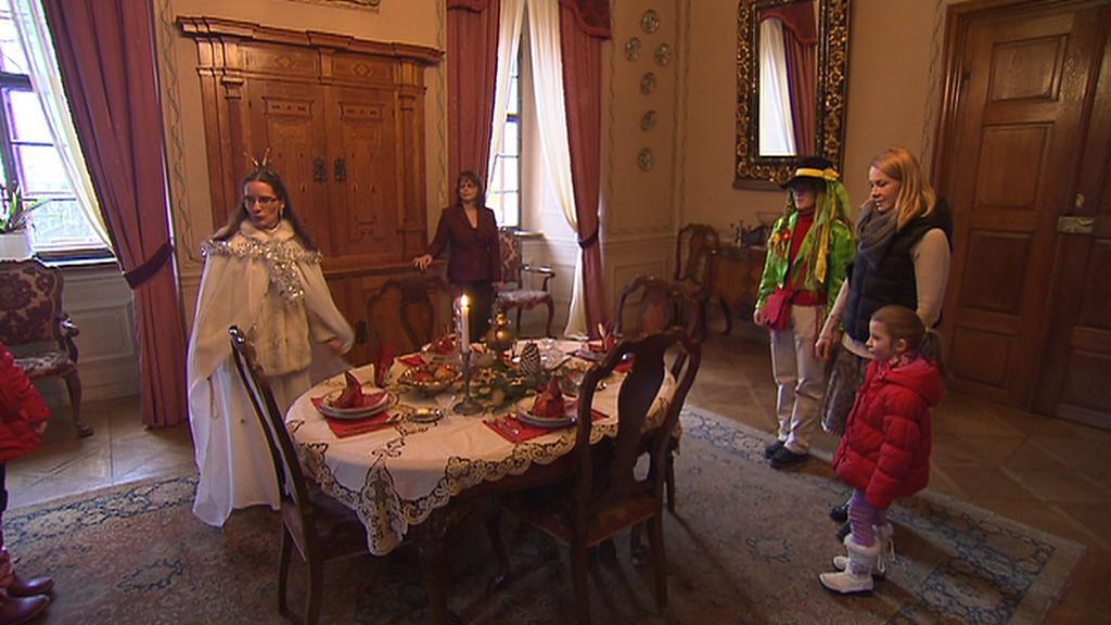 Vánoční prohlídka na zámku Mníšek pod Brdy