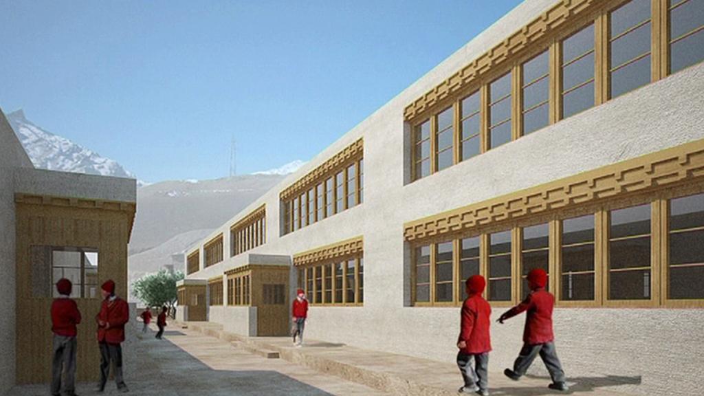 Projekt nové školy ve vesnici Mulbekh