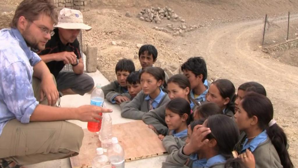 Děti ve škole v Mulbekhu