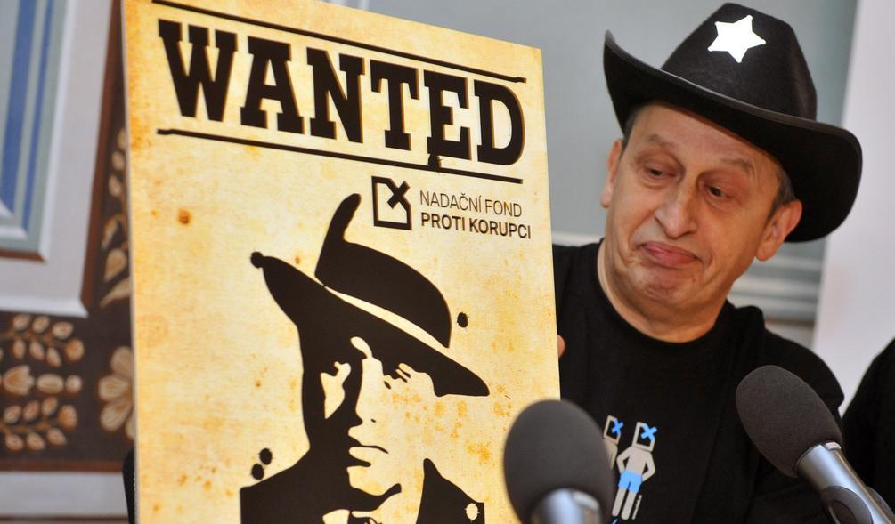 Jan Kraus prezentuje protikorupční kampaň Wanted