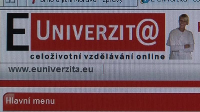Webové stránky E-Univerzity