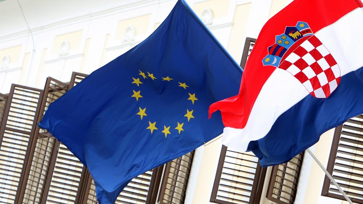 Vlajka unie a Chorvatsko