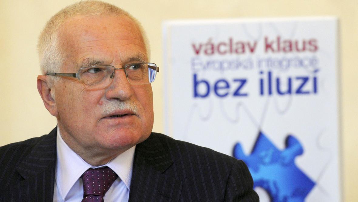 Václav Klaus na křtu své knihy