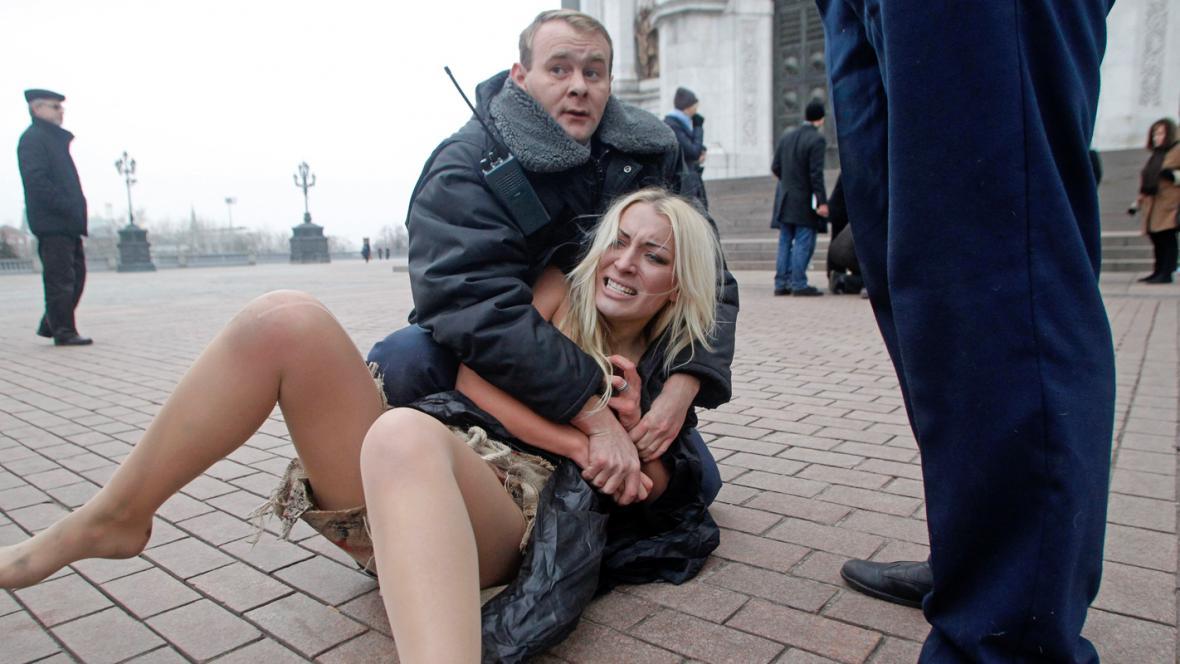 Protest ukrajinské skupiny Femen