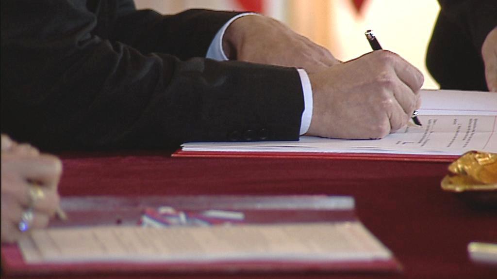 Podepisování česko-ruských smluv