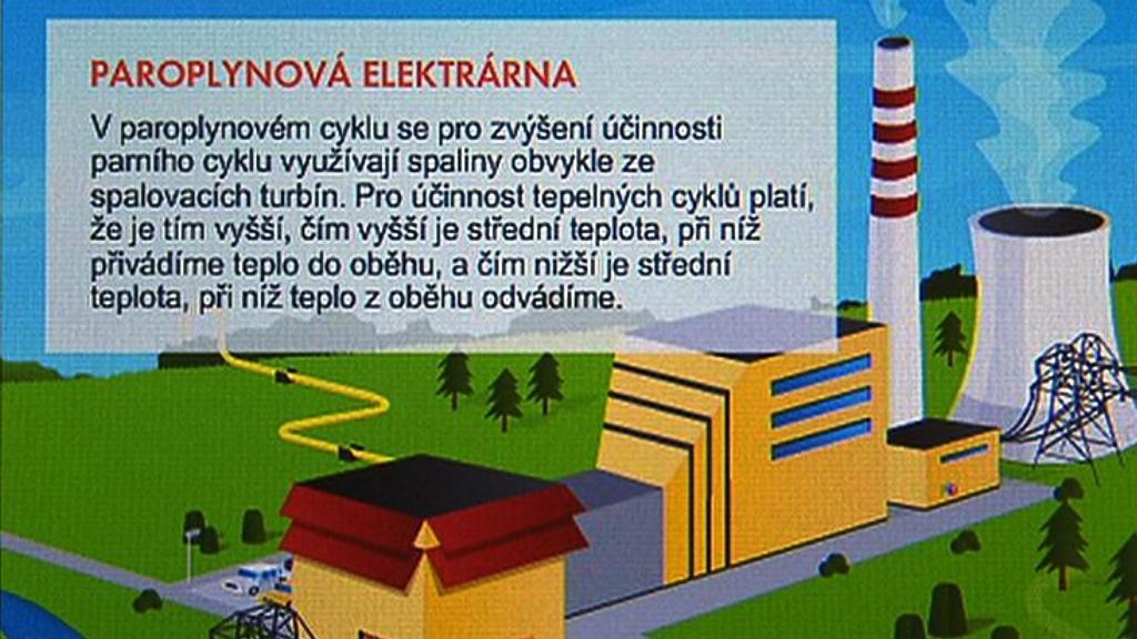 Plán paroplynové elektrárny