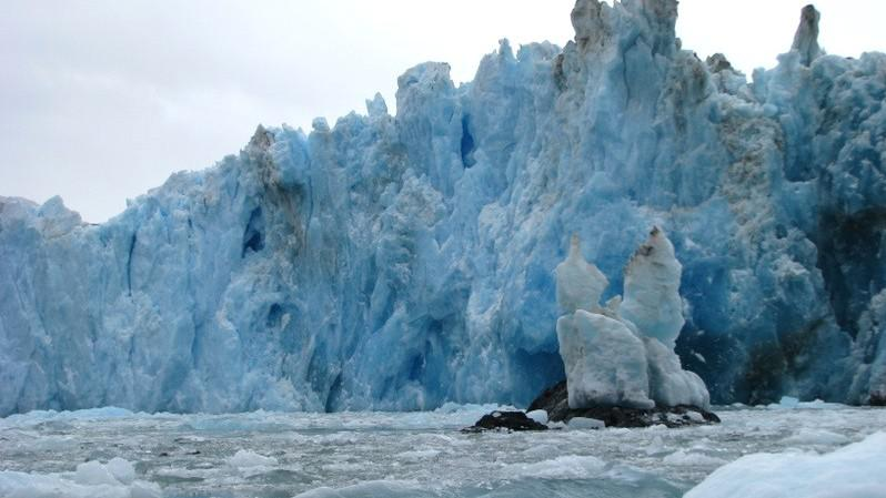 Chilský ledovec v Patagonii Jorge Montt