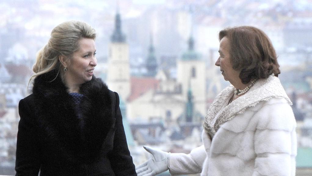 Livia Klausová a Světlana Medveděvová