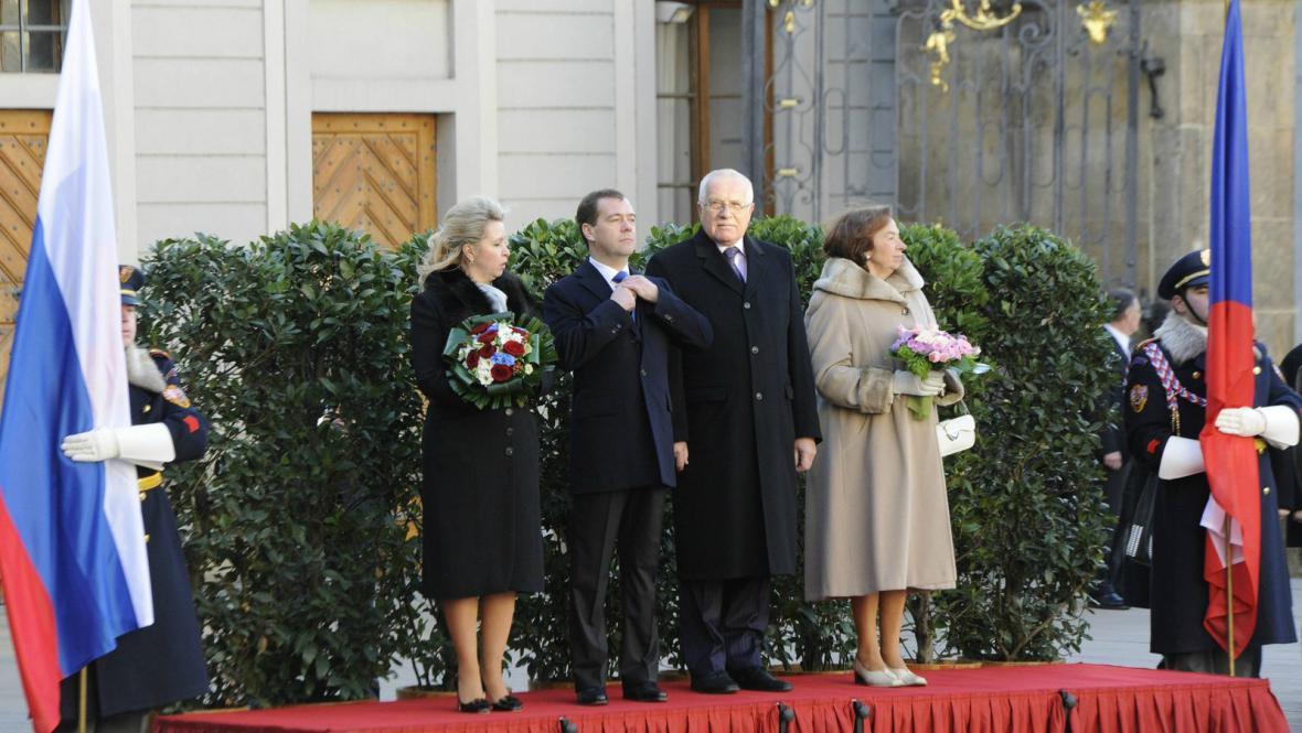 Ruský a český prezidentský pár