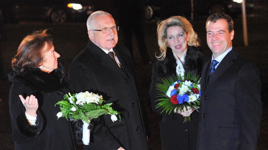 Český a ruský prezidentský pár