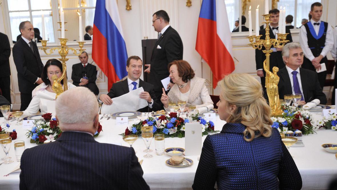 Slavnostní oběd na počest ruského prezidenta