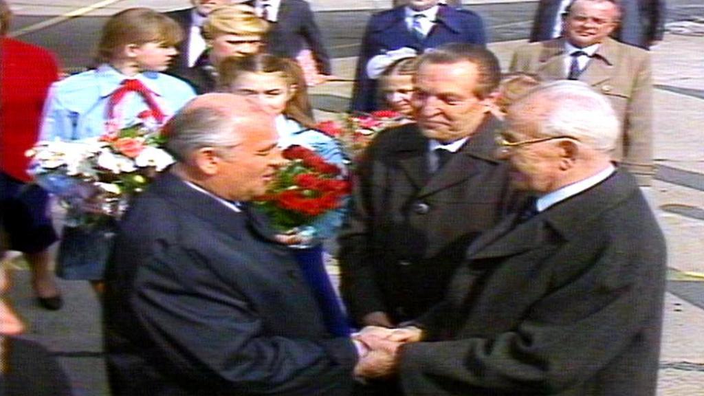 Přivítání s Gorbačovem