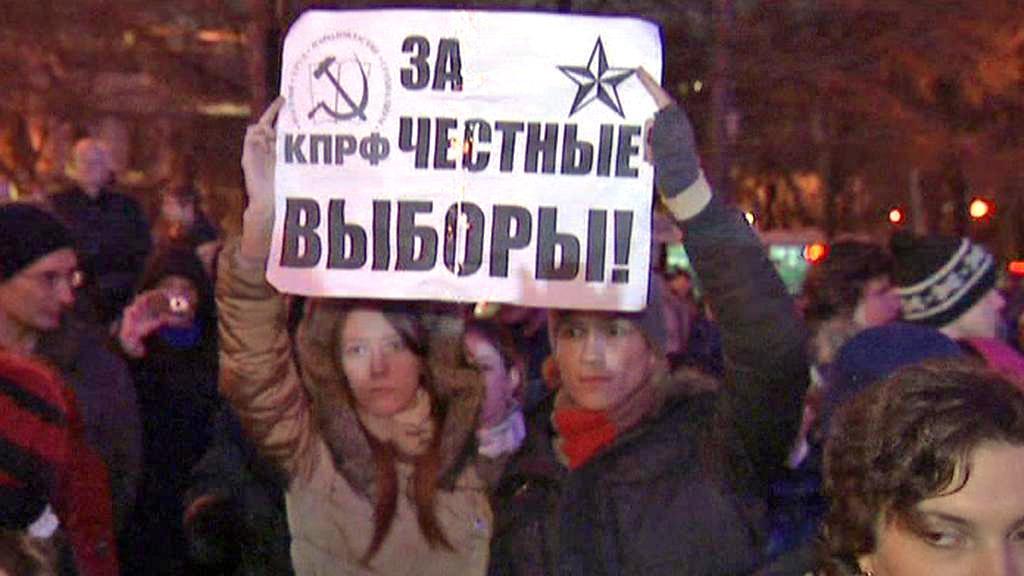 Povolební protest v Moskvě