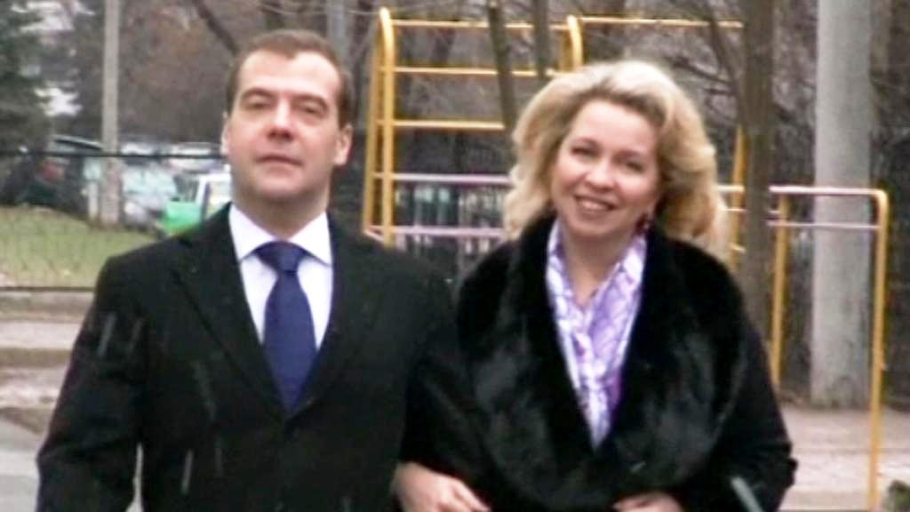 Dmitrij a Světlana Medvěděvovi