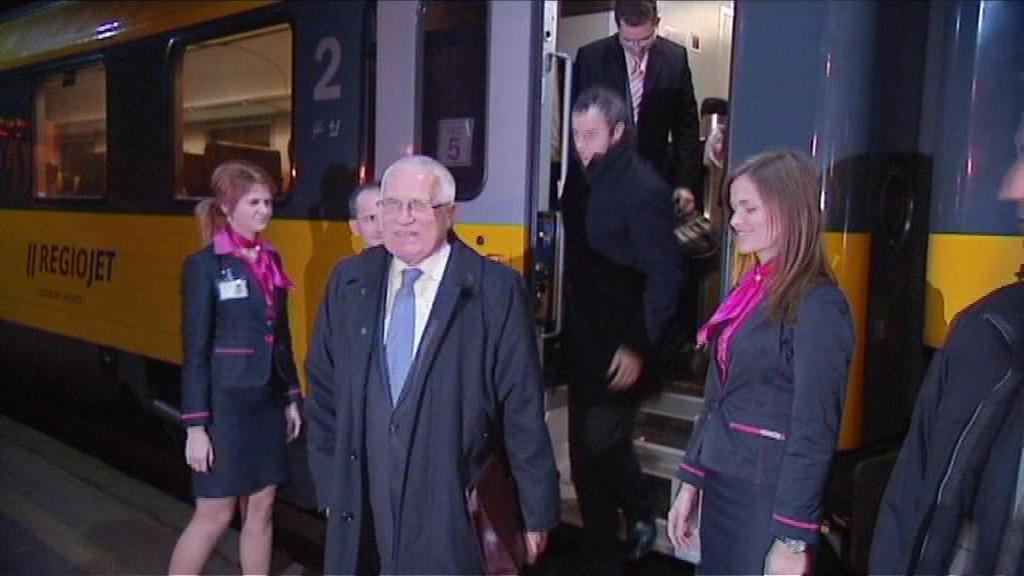 Václav Klaus na návštěvě MS kraje