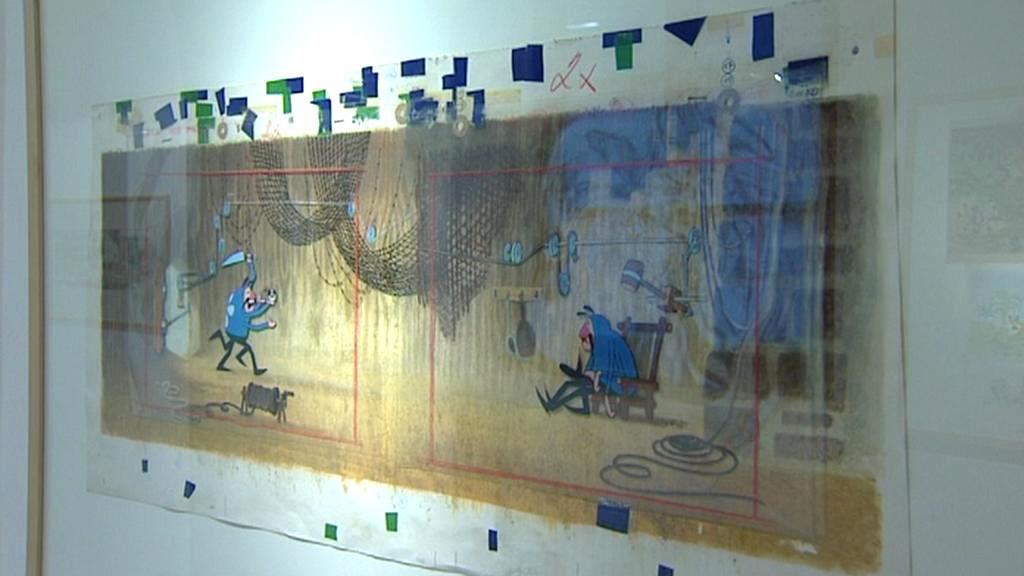 Instalace výstavy děl Zdeňka Milera