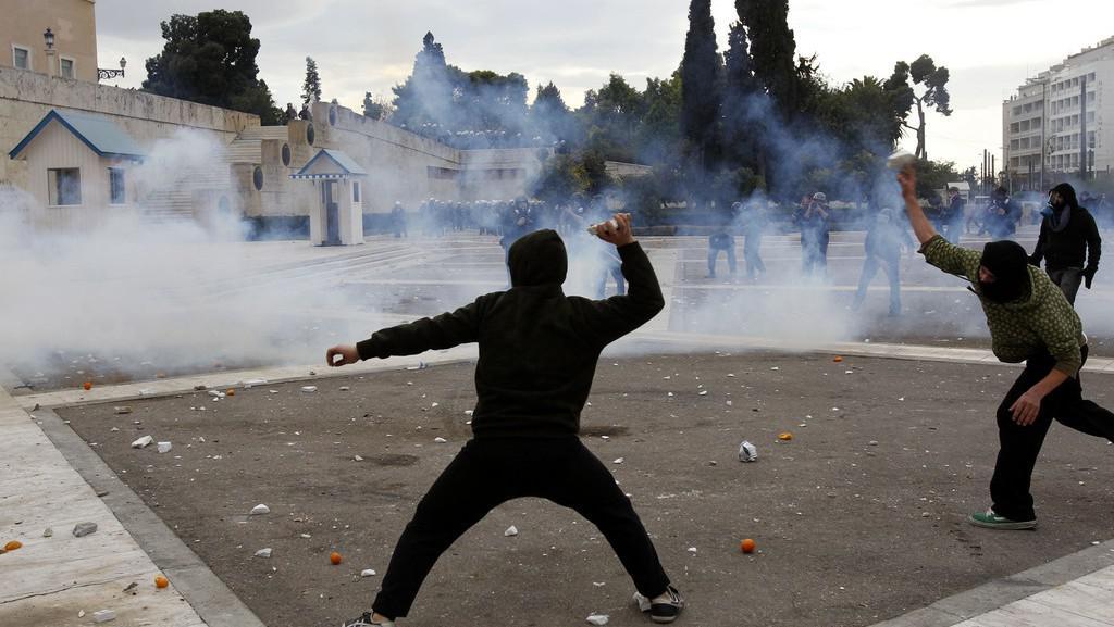 Protesty v Řecku