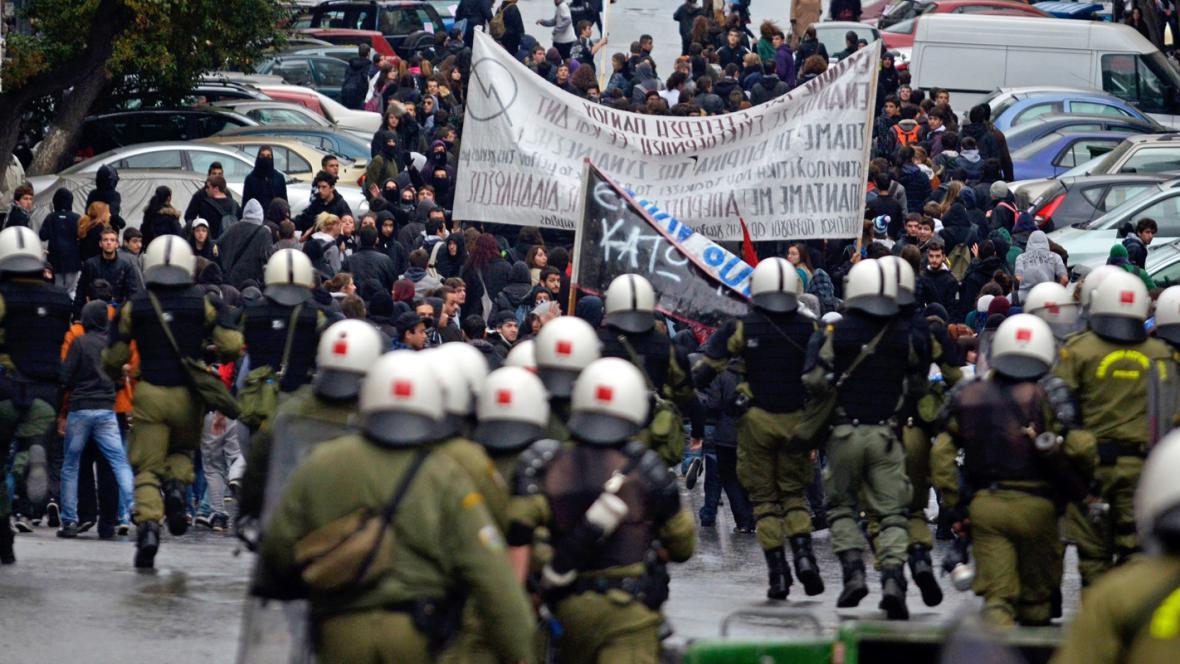 Řecká policie se střetla s demonstranty