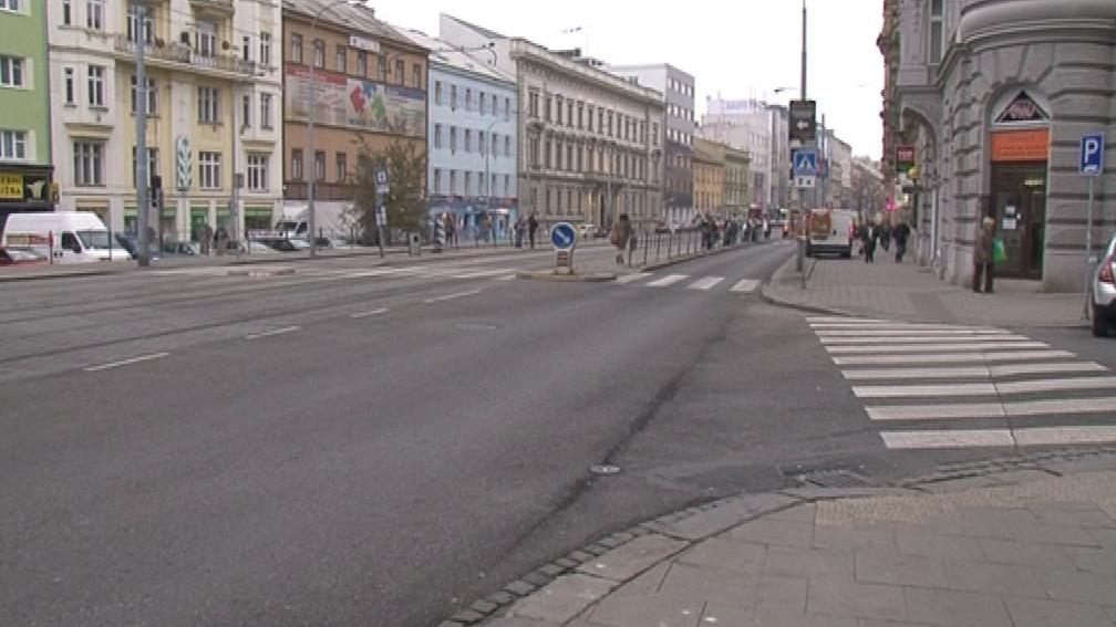 Zastávka v Brně, kde při potyčce zemřel chodec