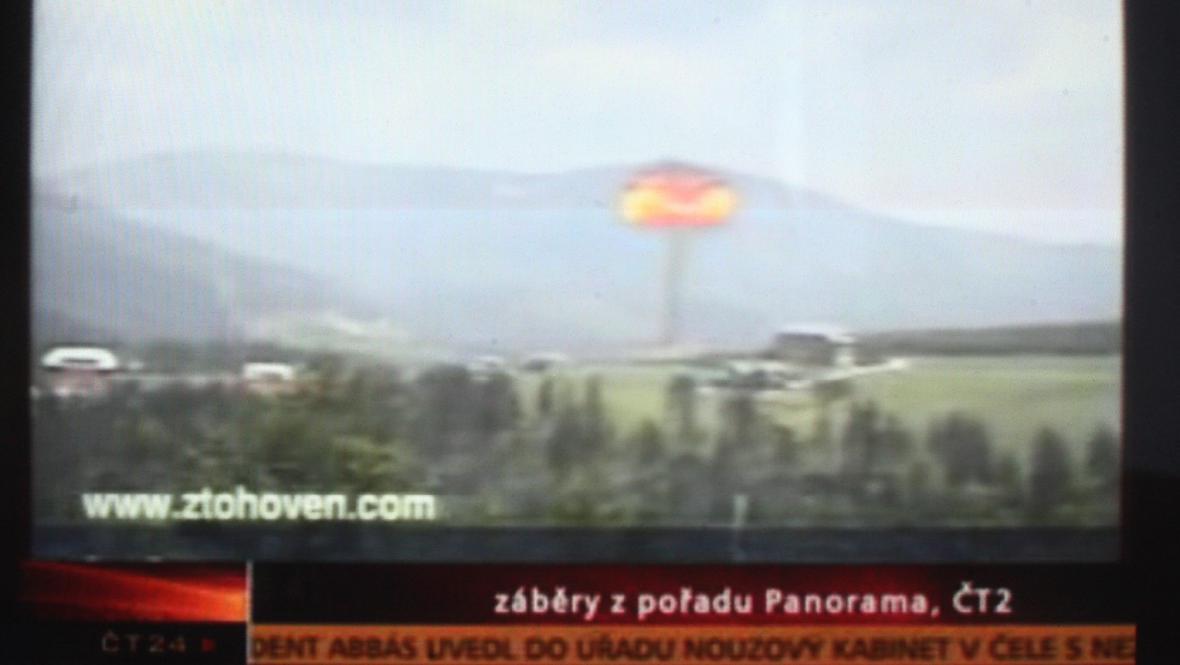 Simulovaný výbuch atomové bomby