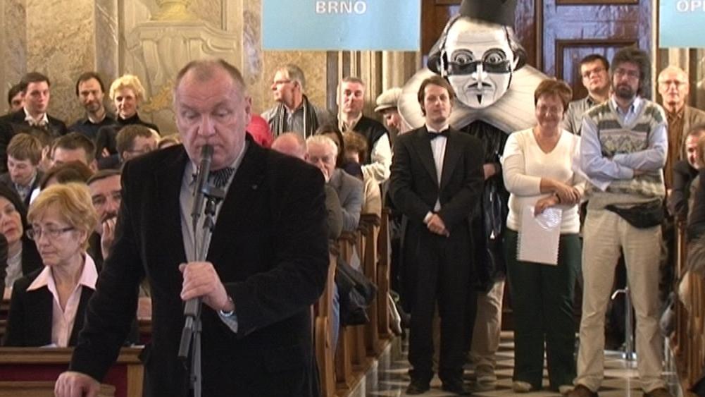 Daniel Dvořák vystoupil na jednání brněnského zastupitelstva