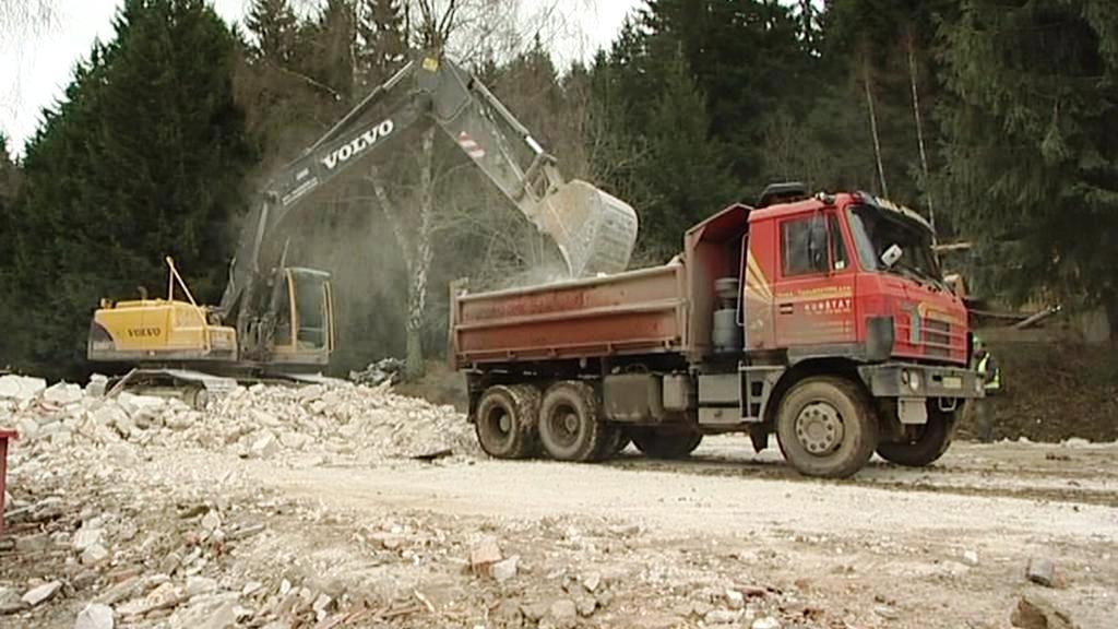 Demolice areálu Žalov