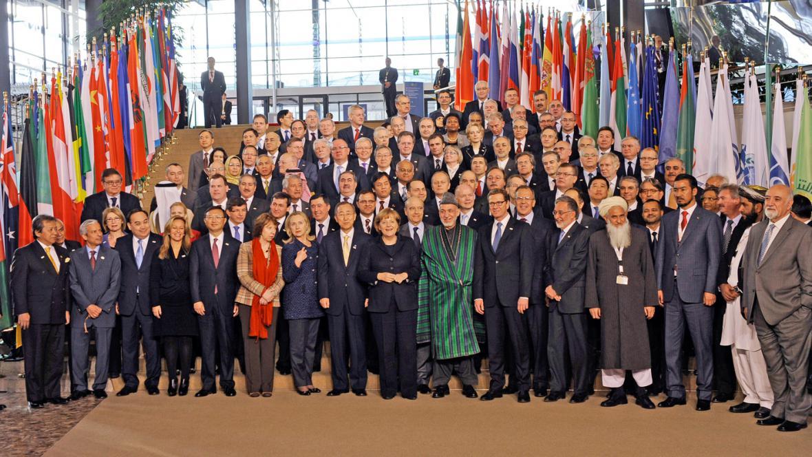 Účastníci konference o Afghánistánu