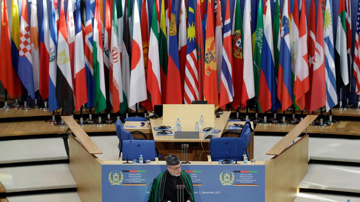 Hamíd Karzáí na konferenci o Afghánistánu
