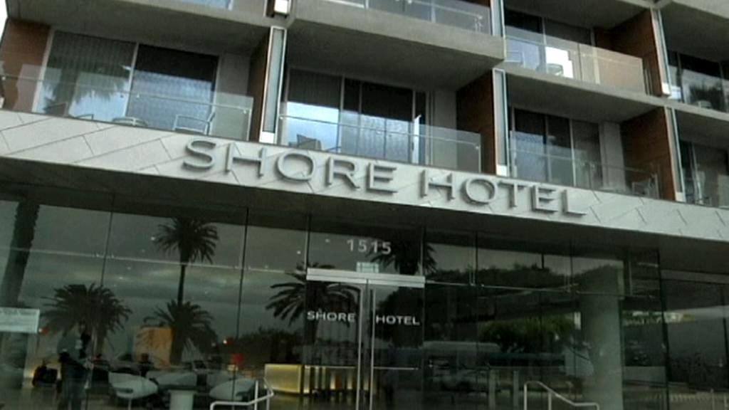 Hotel Shore na pláži v Santa Monice