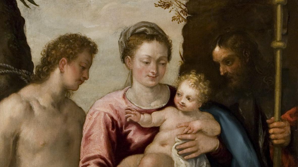 Paolo Veronese - Svatá konverzace se sv.Šebestiánem a sv.Rochem