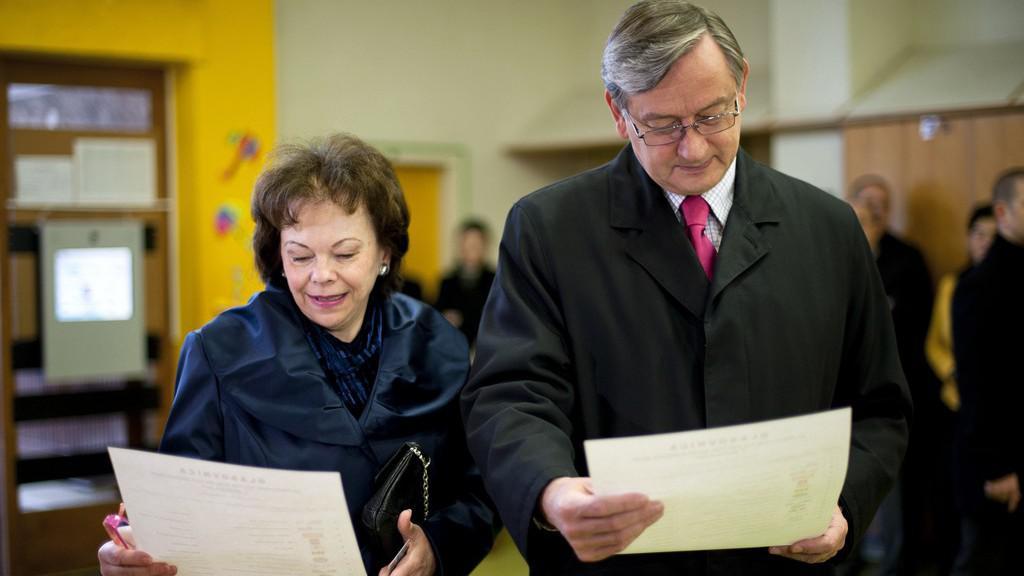 Slovinský prezident Danilo Türk s manželkou