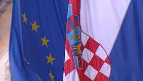 Vlajka EU a Chorvatska
