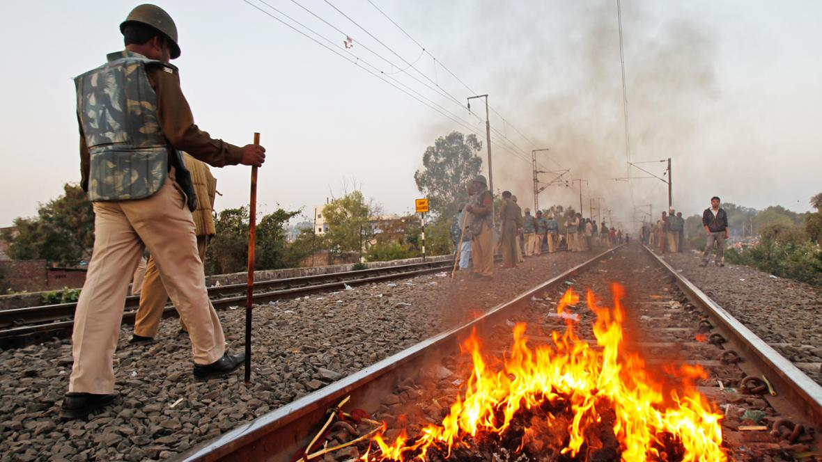 Protesty v indickém Bhópálu
