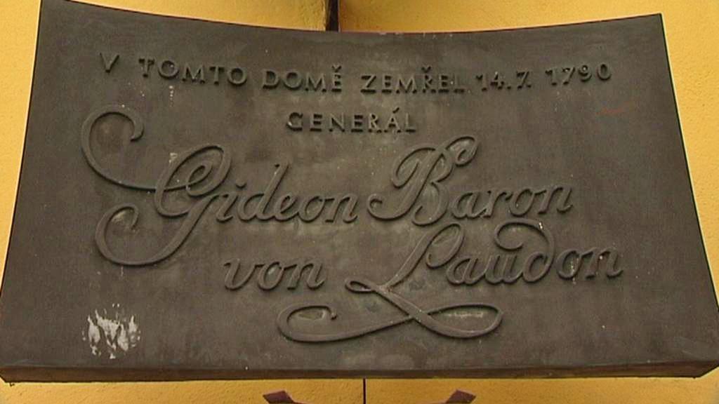 Pamětní deska generála Laudona v Novém Jičíne
