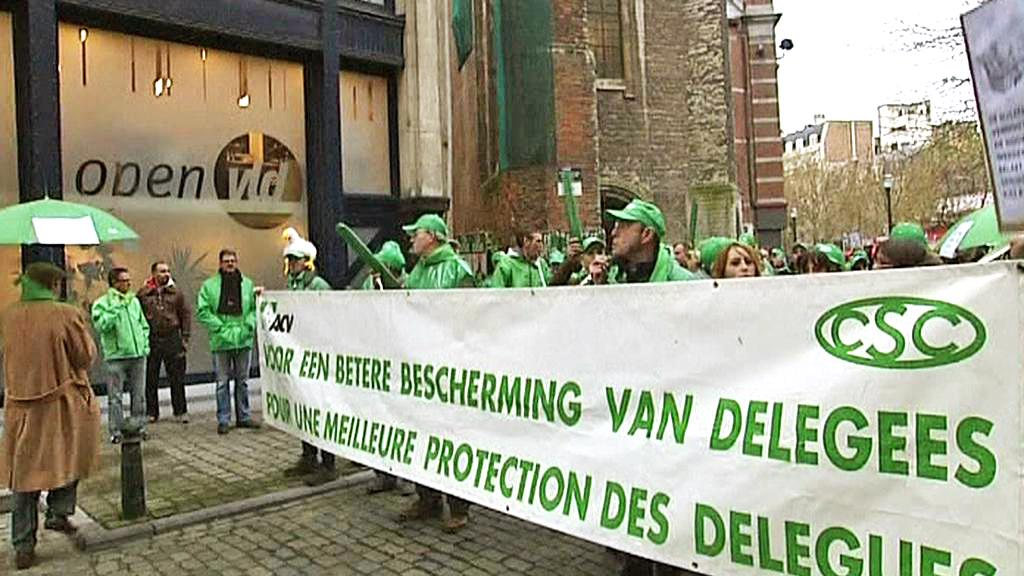 Protesty proti belgickým vládním úsporám