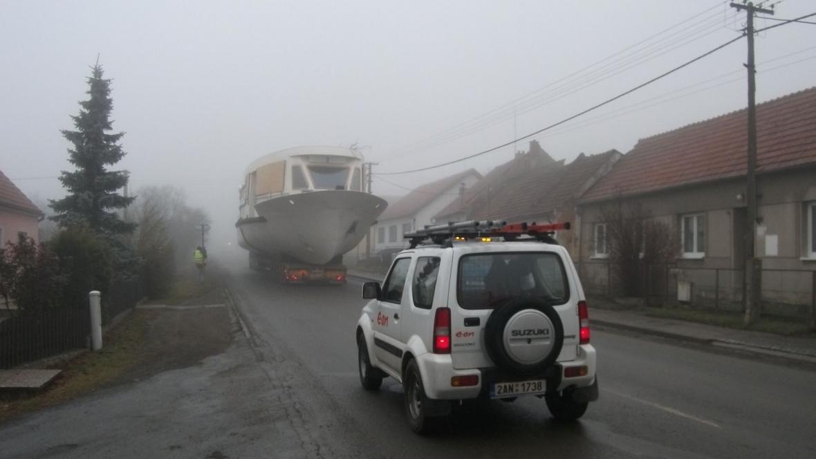 Lodě míří na Brněnskou přehradu
