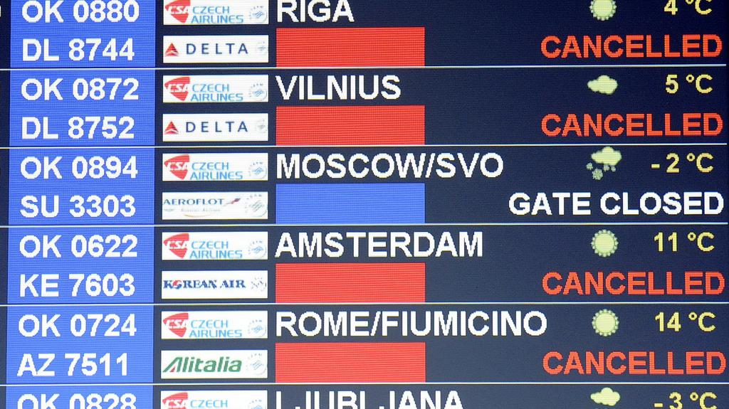 Zrušené lety ČSA