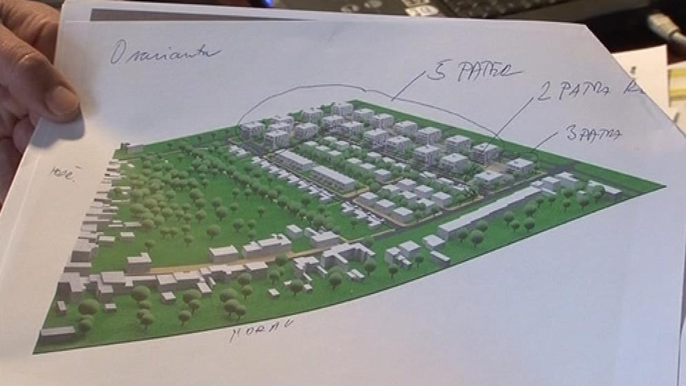 Kontroverzní návrh bytové výstavby na Slunné louce