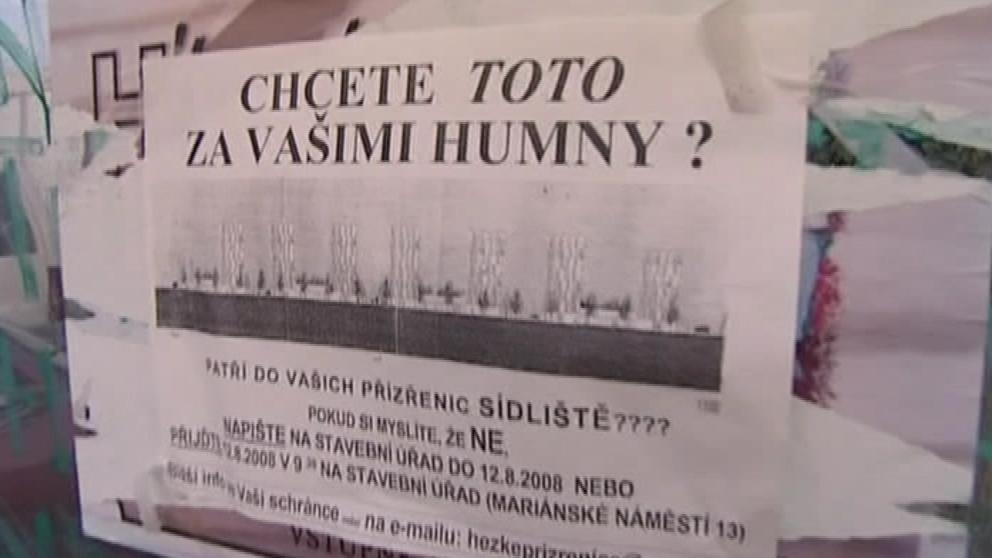 Protest obyvatel Brna-jih proti masivní výstavbě