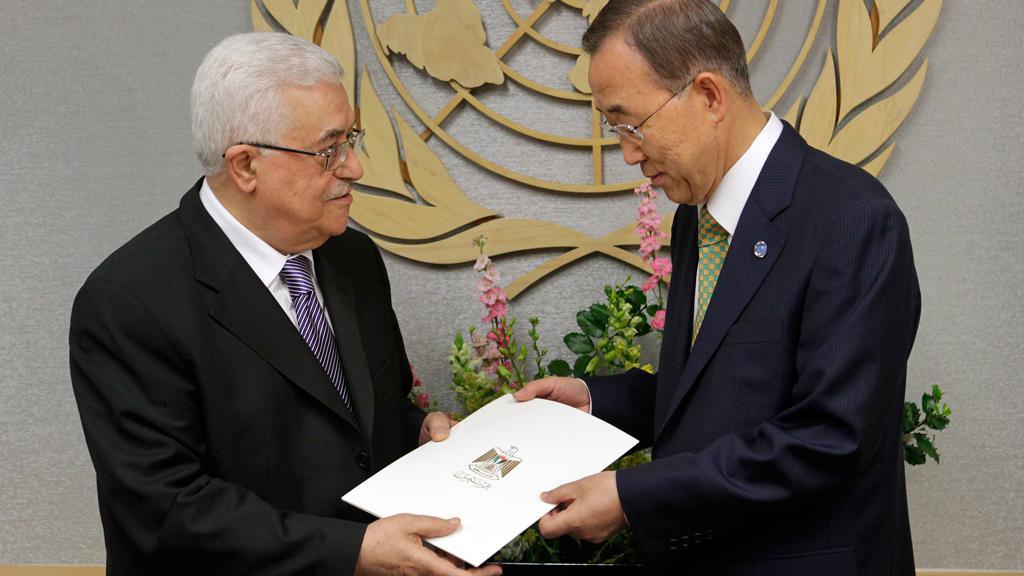 Abbás předává žádost o členství Palestiny v OSN