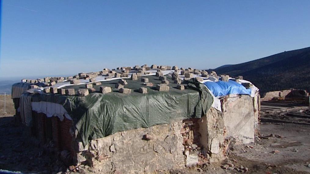 Zakryté zbytky Petrovy boudy