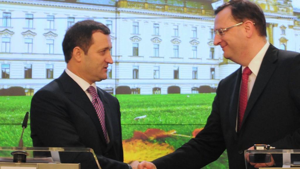 Petr Nečas a Vlad Filat