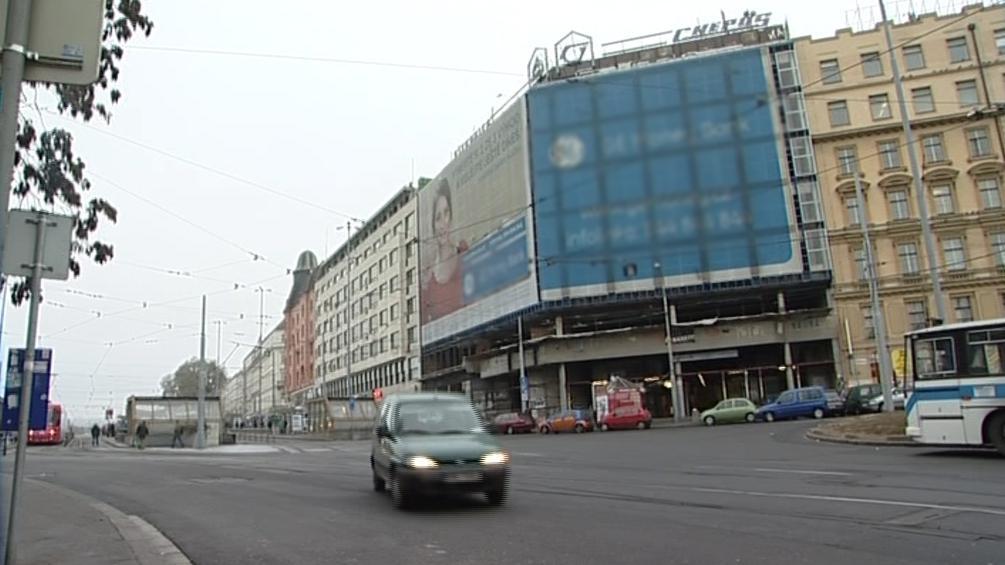 Vyhořelé kasino u brněnského nádraží