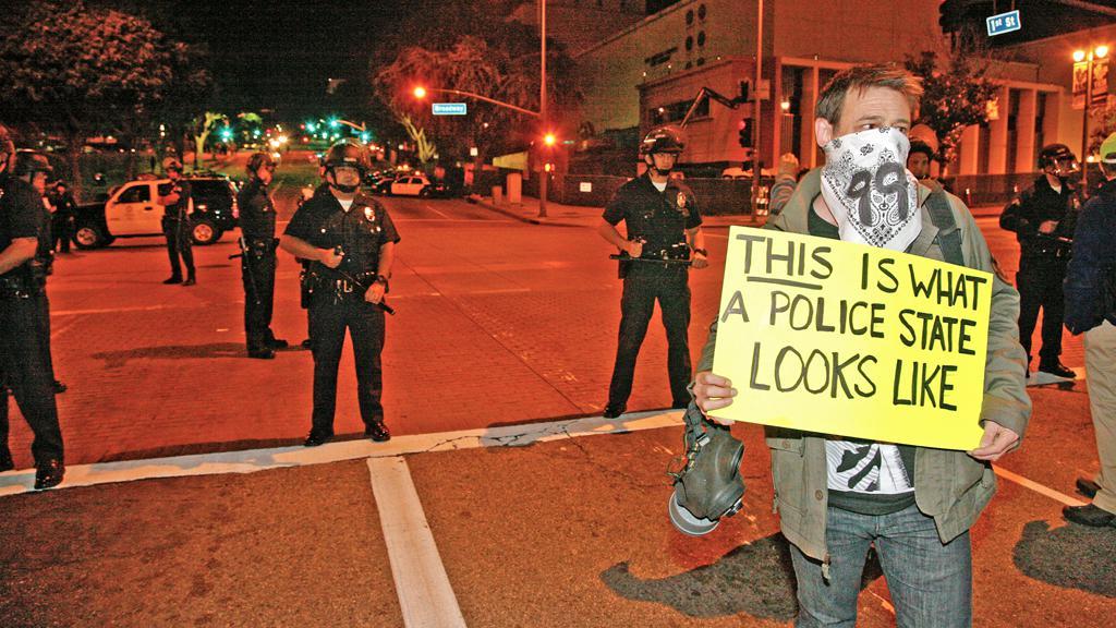 Demonstrace hnutí Okupujte Wall Street v Los Angeles