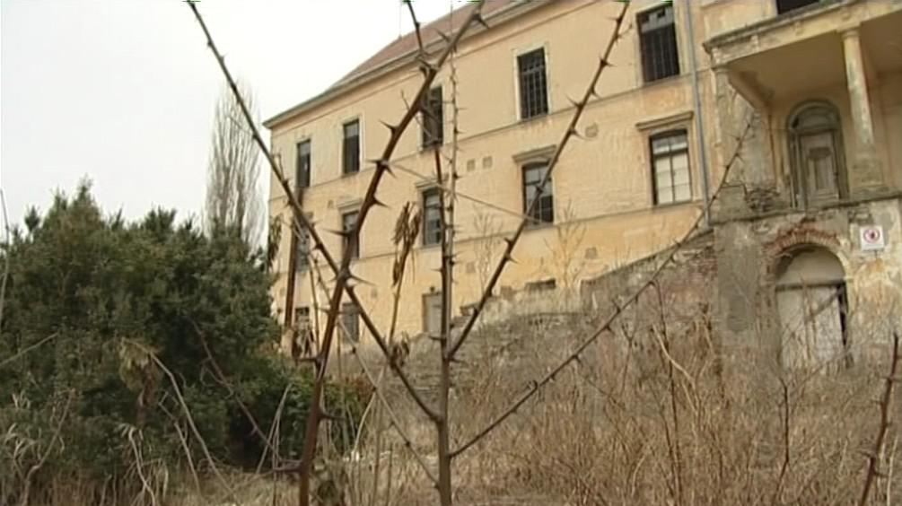 Chátrající zámek v Hrušovanech nad Jevišovkou